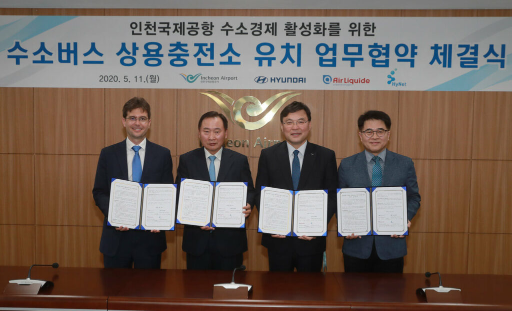 Estação de abastecimento de hidrogénio da Hyundai