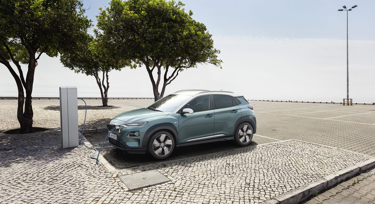 Hyundai Kauai Electric a carregar